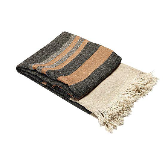 Belgian Black Stripe Towel For Sale