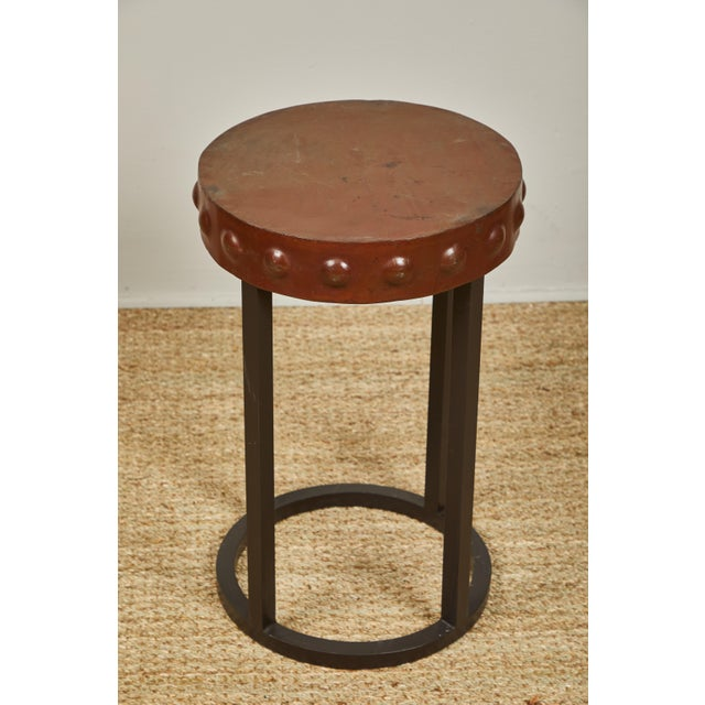 Primitive Iron Side Tables For Sale - Image 4 of 9
