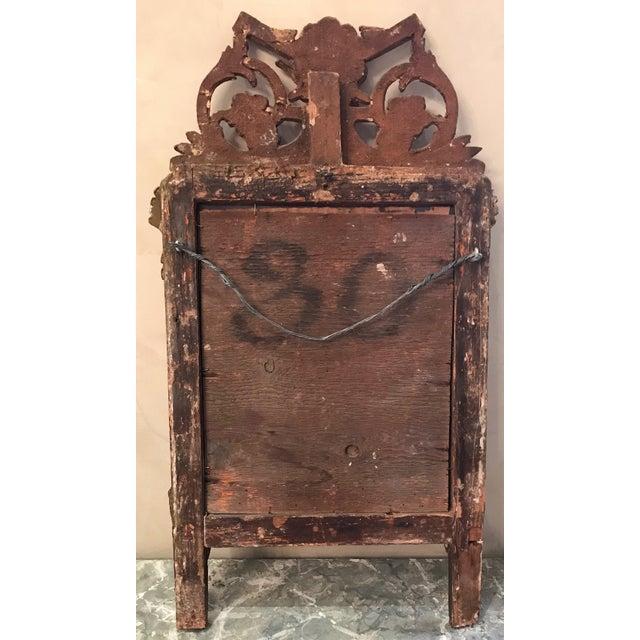 Petite Louis XVI Giltwood Mirror For Sale - Image 4 of 8