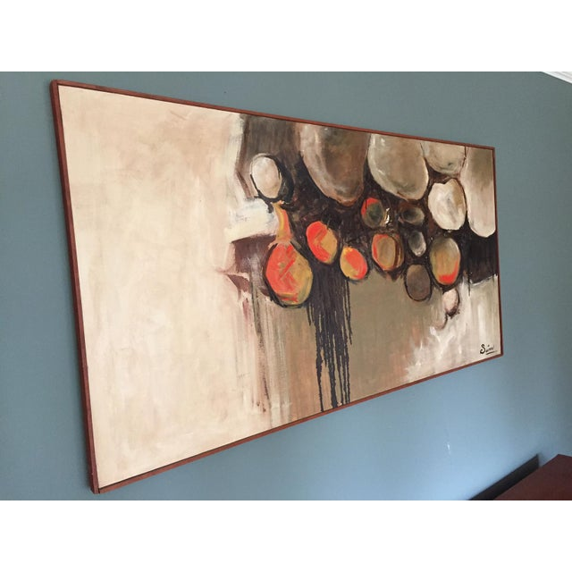 Large Mid-Century Abstract Painting - Image 5 of 5