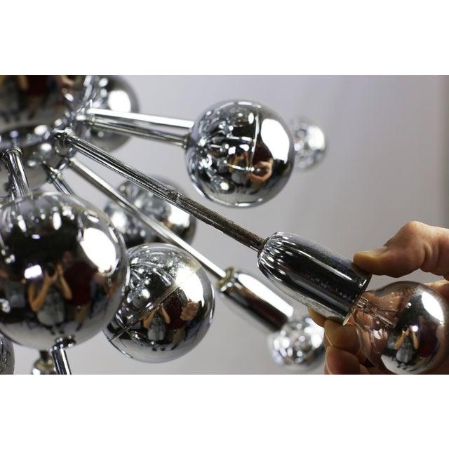 Mid-Century Lightolier 20 Light Sputnik Chandelier For Sale - Image 9 of 9