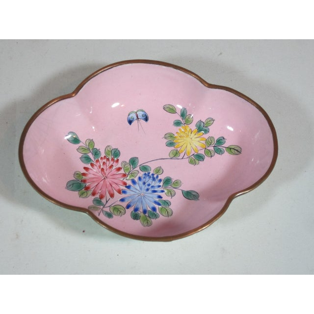 Floral Chinese Enamel Bowls - Set of 4 For Sale - Image 4 of 9