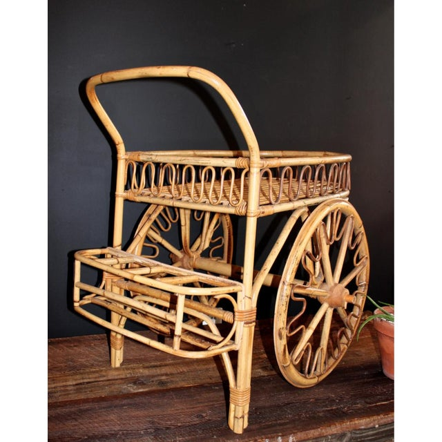 Rattan Bar Cart - Image 2 of 10