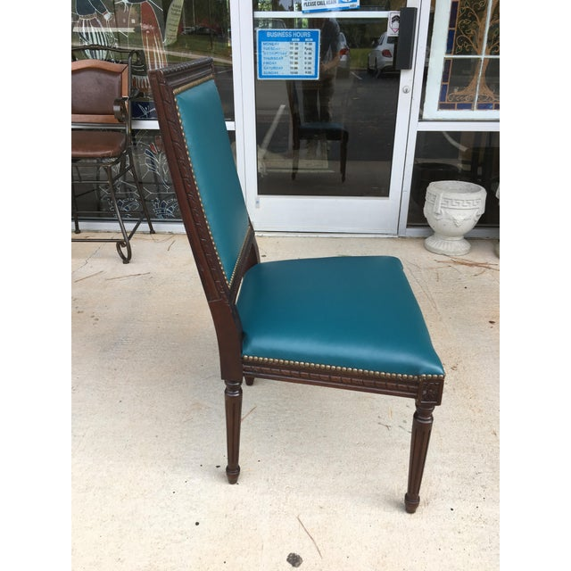Massoud Regency Style Leather Accent Chair - Image 8 of 10