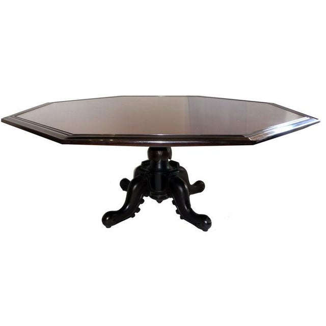 Exquisite octagonal dining table designed by Maurice Bailey for Monteverdi & Young. Table is in excellent original...