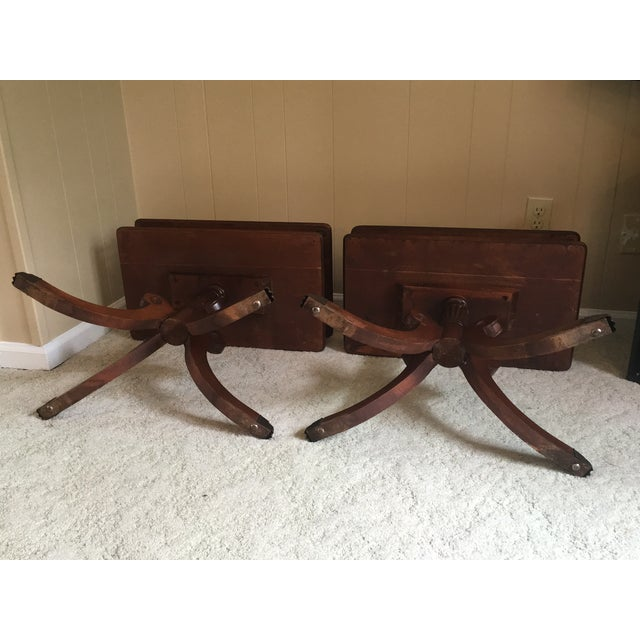 Brown Imperial Federal Style Side Tables - A Pair For Sale - Image 8 of 12