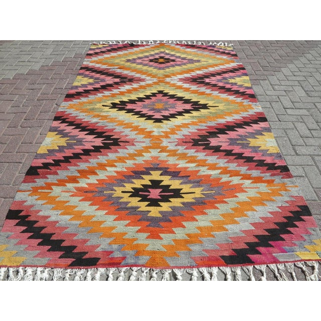 Anatolian Turkish Classic Kilim Rug For Sale - Image 13 of 13