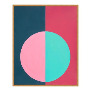 """""""Pink & Blue Forever"""" Small Gold Framed Print by Stephanie Henderson For Sale"""