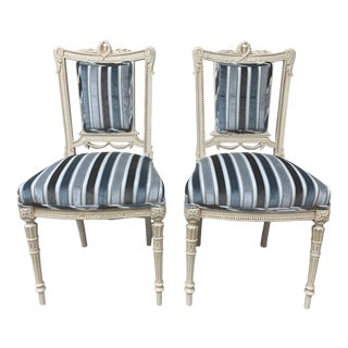 Mid 19th Century Antique Swedish Gustavian Chairs- A Pair For Sale