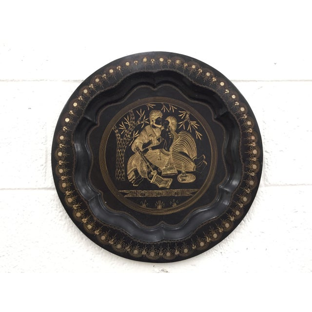 Anglo-Indian Vintage Indian Etched Charger For Sale - Image 3 of 9
