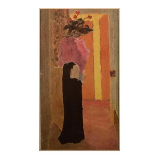 """1948 After Édouard Vuillard """"L'Élégante"""" Vintage Parisian Offset Lithograph For Sale"""