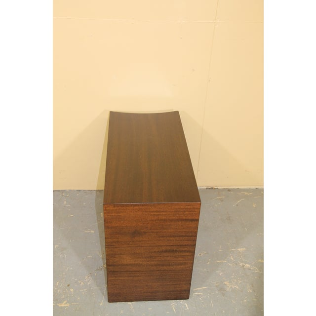 Modernage Furniture Company 1930s Modernage African Mahogany Side Table For Sale - Image 4 of 10