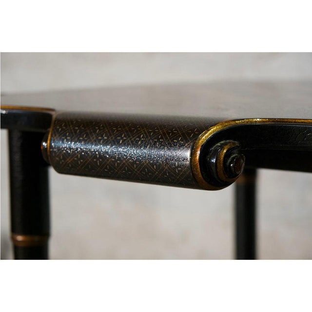 2000 - 2009 Black & Gold Gilt Game Table For Sale - Image 5 of 8