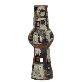 Brutalist Terra Cotta Glazed Sculpture, American Mid 20th Century For Sale