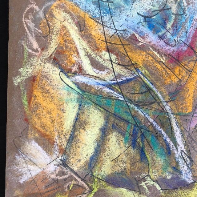 Abstract Southern Hospitality Pastel by Erik Sulander 13.5x12.5 For Sale - Image 3 of 4