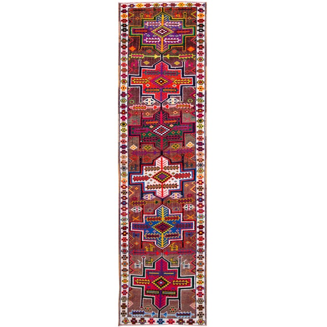 Early 20th Century Vintage Turkish Wool Runner Rug For Sale - Image 9 of 9