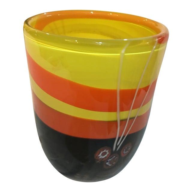 Michael Segerberg for Larson Signed Art Vase For Sale