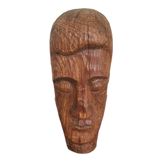 Wood Carved Statue - Image 1 of 6