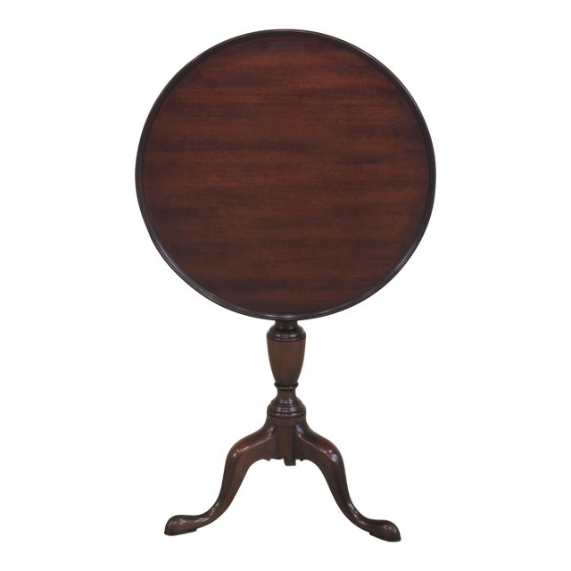 Kittinger Colonial Williamsburg Model CW-11 Mahogany Tilt Top Table - Image 1 of 11