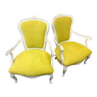 Vintage French Style Chairs- A Pair For Sale