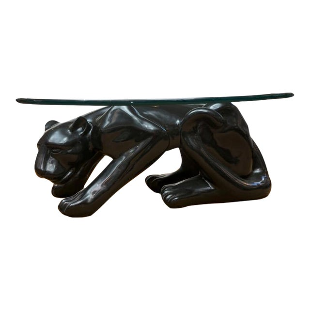 Black Panther Coffee Table Circa 1970's For Sale
