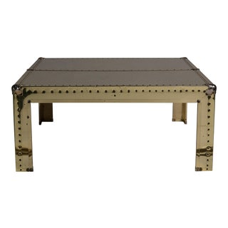 1970s Riveted Brass Coffee Table