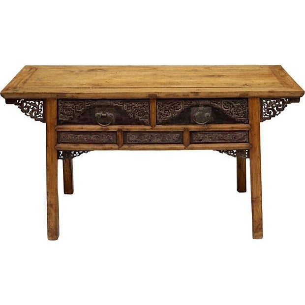 Chinese Elm Consle Table - Image 1 of 3