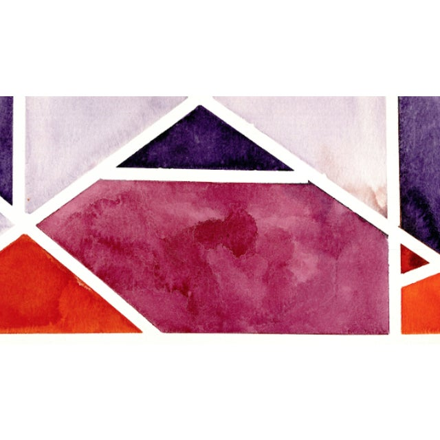 Contemporary Abstract Watercolor Original Art - 11 In. X 15 In For Sale - Image 3 of 7