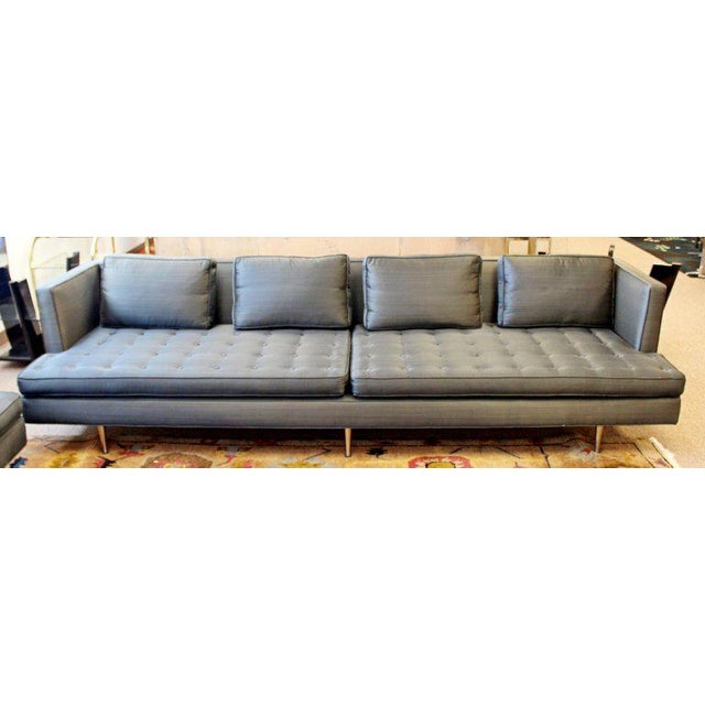 Textile Mid-Century Modern Style Pair Wormley for Dunbar Chamberlain Model 4907a Sofas For Sale - Image 7 of 11
