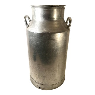 Vintage Belgian Aluminum Milk Can For Sale