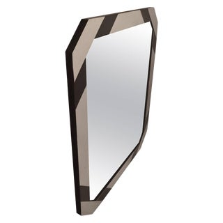 Mixed Metal Mirror After Paul Evans For Sale