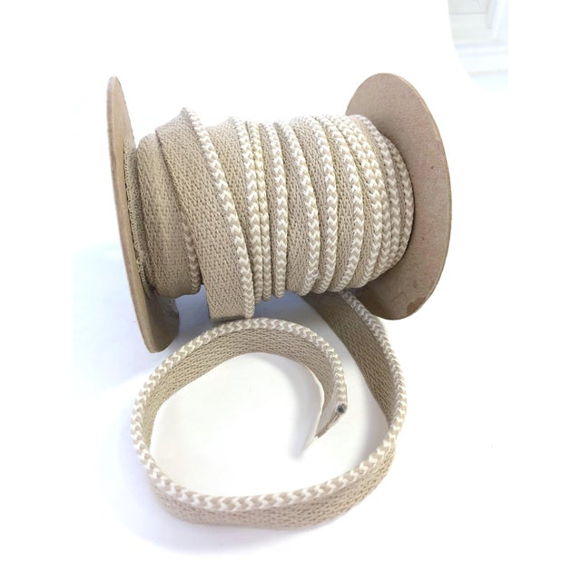 """Braided 1/8"""" Indoor-Outdoor Cord in White & Cream For Sale In New York - Image 6 of 7"""