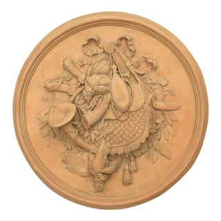 Rustic French Resin Wall Plaque For Sale