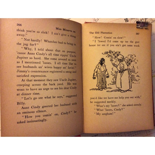 "Antique Children's Book: ""Miss Minerva on the Old Plantation"" Published 1923 - Image 7 of 7"