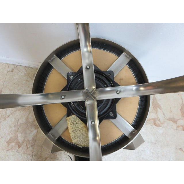 Mid-Century Metal Industrial Stool For Sale - Image 9 of 10