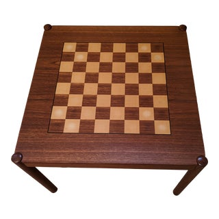 George Petersens Game Table / End Table Combination For Sale