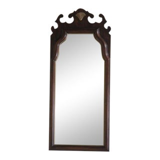 Harden Carved Solid Cherry Shell Wall Mirror For Sale
