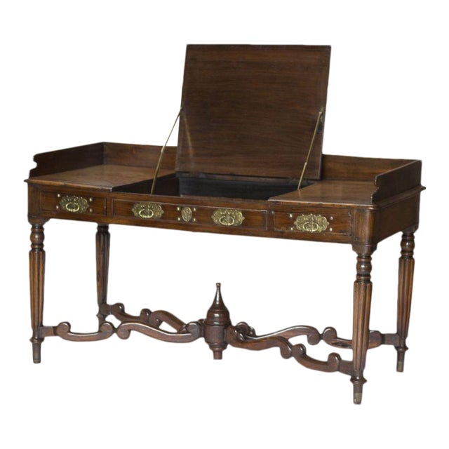 Mid 19th Century Anglo Indian Rosewood Writing Table For Sale