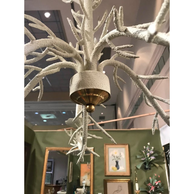 Americana Mid Century Modern Coral Chandelier For Sale - Image 3 of 5