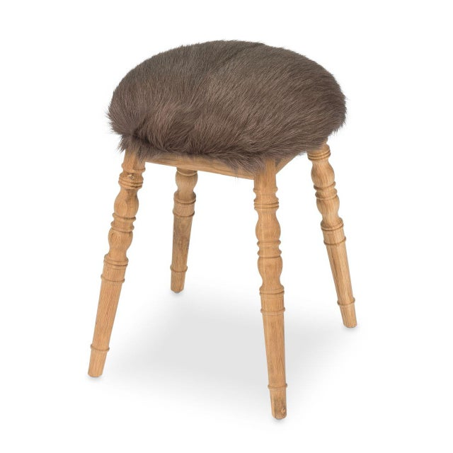 Natural Fiber Sarreid LTD Brown 'Winoma' Stool For Sale - Image 7 of 7