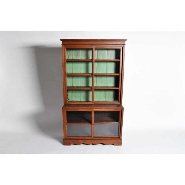 1950s British Colonial Bookcase For Sale - Image 4 of 13