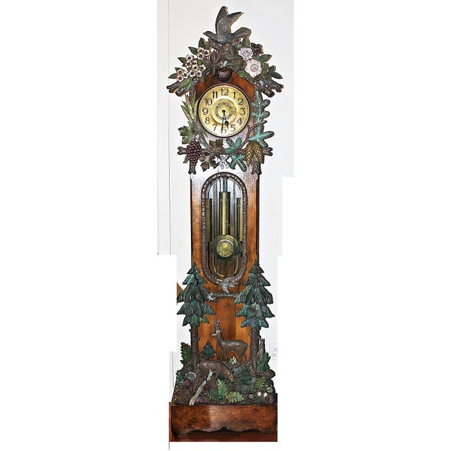 Black Forest Grandfather Tall-Case Clock For Sale - Image 13 of 13