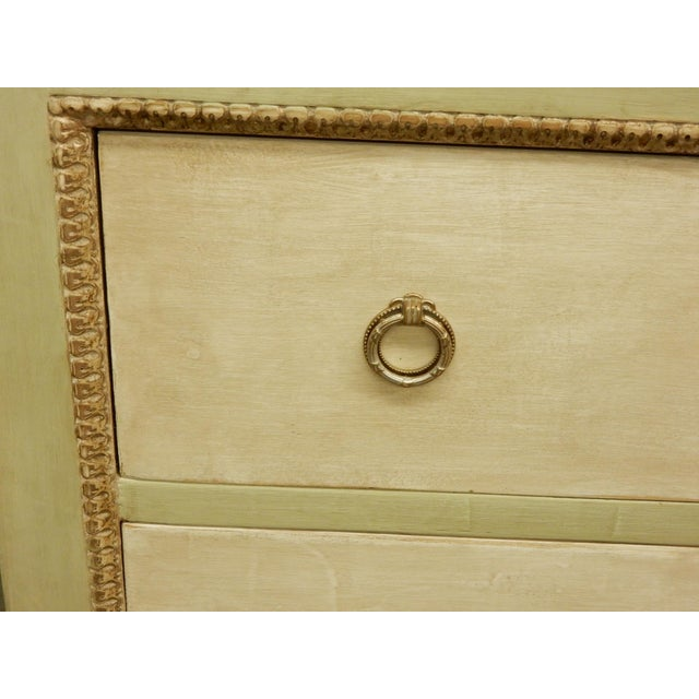 Italian Louis XVI Style Painted Two Drawer Commode For Sale In New Orleans - Image 6 of 8