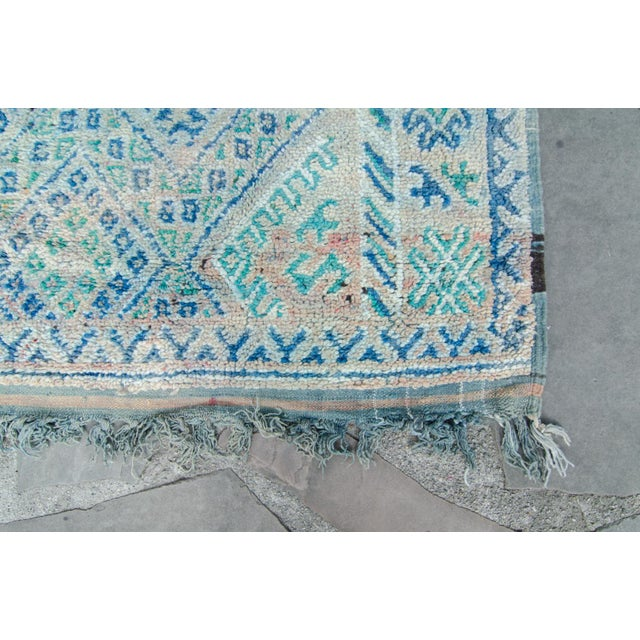 "Vintage Moroccan Boujad Boujad Rug Carpet Berber - 11'5"" x 6'3"" For Sale - Image 5 of 10"