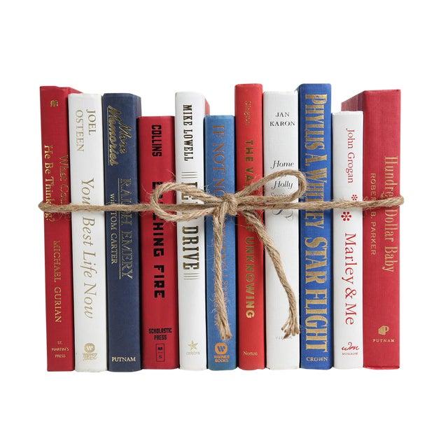 Modern Americana ColorPak - Red, White & Blue Decorative Books For Sale