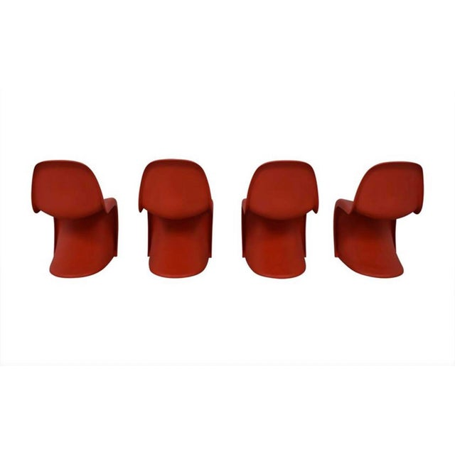 Mid-Century Modern Verner Panton for Vitra Chairs- Set of 4 For Sale - Image 3 of 11
