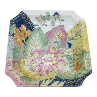 Vintage Chinoiserie Plate For Sale