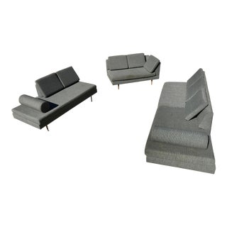 Vintage Mid-Century Probber Style Sectional Sofa- Set of 3 For Sale