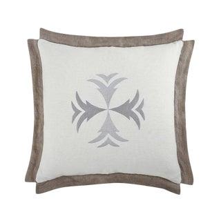 "Piper Collection Gray Velvet ""Hattie"" Pillow For Sale"