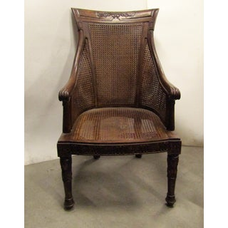 Early 20th Century Vintage Double Caned Curved Back Accent Side Chair Preview